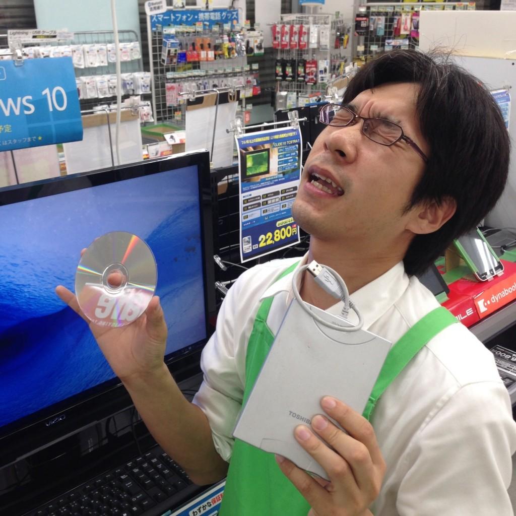 Windowws10無料アップグレード・フロッピーとDVDビデオ再生できないなんて!OTL