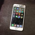 【iPhone6 Plus 修理】落下破損により、重度フロントガラス割れ