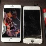 【iPhone6 Plus】クモの巣状のガラス割れ修理 (奈良県北葛城郡上牧町Iさま)