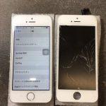 【液晶交換修理】iPhone 5s『液晶が割れ、にじみが発生』