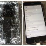 【液晶交換修理】iPhone6s『車に轢かれ、液晶が大破。何も映らず』
