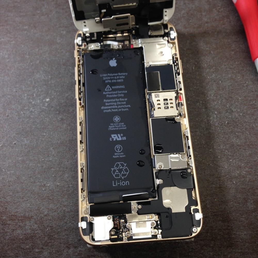 iPhone6・水没復旧・開封時の写真